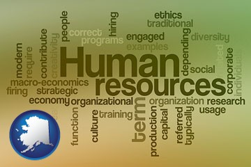 human resources concepts - with Alaska icon