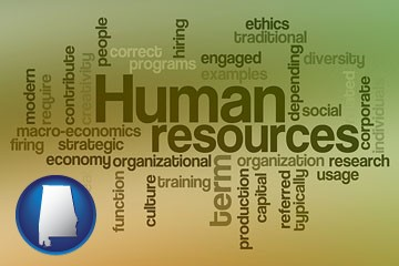 human resources concepts - with Alabama icon