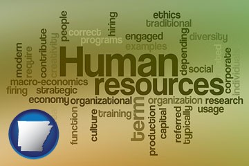 human resources concepts - with Arkansas icon