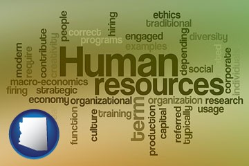 human resources concepts - with Arizona icon