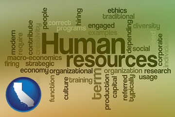 human resources concepts - with California icon