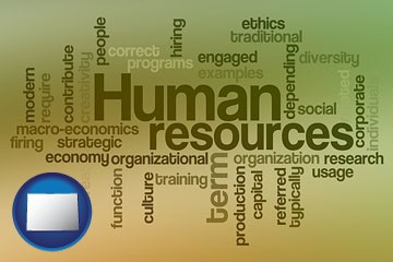 human resources concepts - with Colorado icon