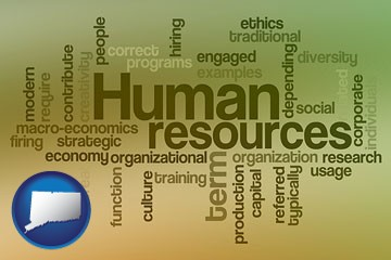 human resources concepts - with Connecticut icon