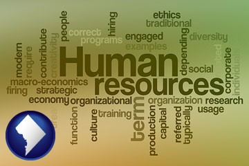 human resources concepts - with Washington, DC icon