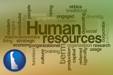 human resources concepts - with Delaware icon