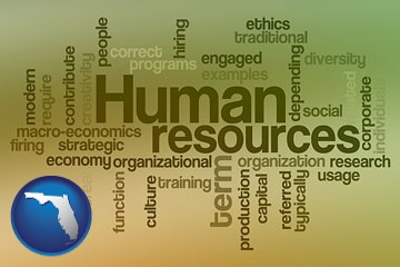 human resources concepts - with Florida icon
