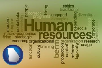 human resources concepts - with Georgia icon