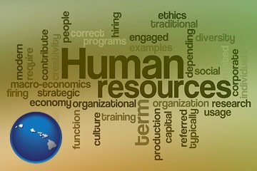 human resources concepts - with Hawaii icon