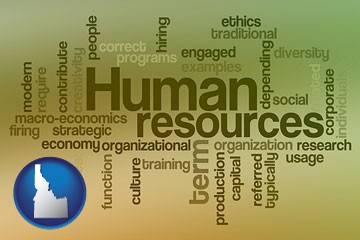 human resources concepts - with Idaho icon
