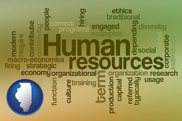 human resources concepts - with Illinois icon