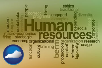 human resources concepts - with Kentucky icon