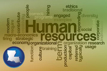 human resources concepts - with Louisiana icon