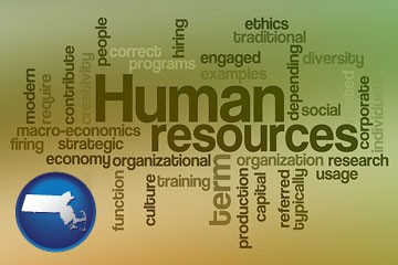 human resources concepts - with Massachusetts icon