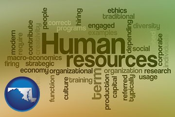 human resources concepts - with Maryland icon