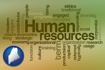 human resources concepts - with Maine icon