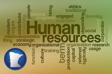 human resources concepts - with Minnesota icon