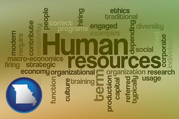 human resources concepts - with Missouri icon