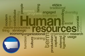 human resources concepts - with Montana icon