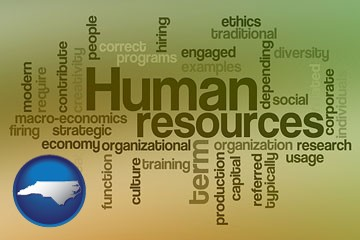 human resources concepts - with North Carolina icon