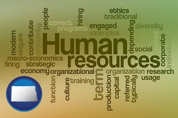 human resources concepts - with North Dakota icon