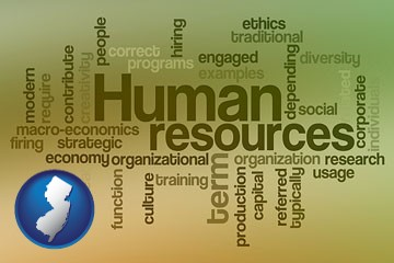 human resources concepts - with New Jersey icon