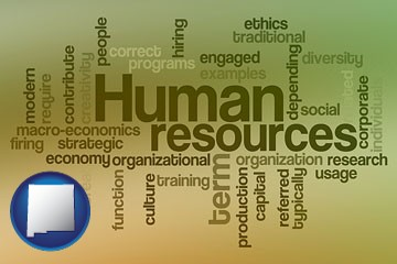 human resources concepts - with New Mexico icon