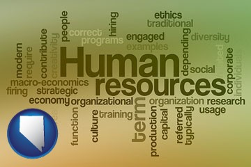 human resources concepts - with Nevada icon