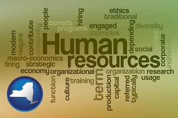 human resources concepts - with New York icon