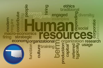 human resources concepts - with Oklahoma icon