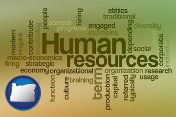 human resources concepts - with Oregon icon