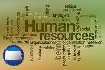 human resources concepts - with Pennsylvania icon