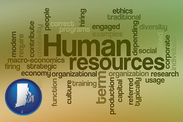 human resources concepts - with Rhode Island icon