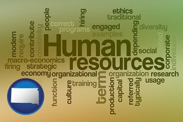 human resources concepts - with South Dakota icon