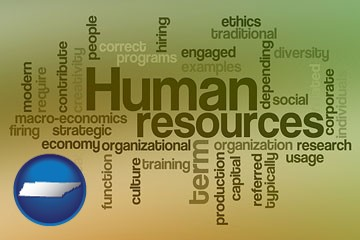 human resources concepts - with Tennessee icon
