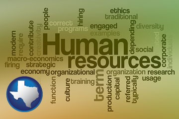 human resources concepts - with Texas icon