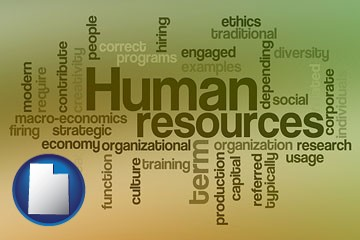 human resources concepts - with Utah icon