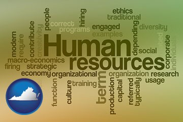 human resources concepts - with Virginia icon