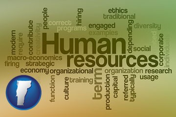 human resources concepts - with Vermont icon