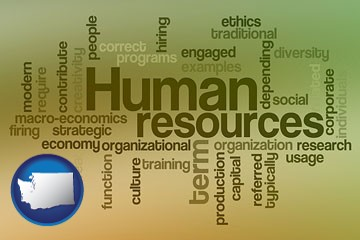 human resources concepts - with Washington icon