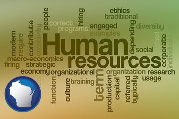 human resources concepts - with Wisconsin icon