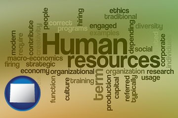 human resources concepts - with Wyoming icon